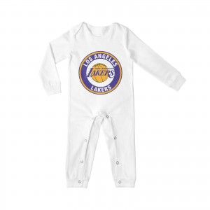 Brian Cook Lakers Baby Crawler Los Angeles Lakers LAL White