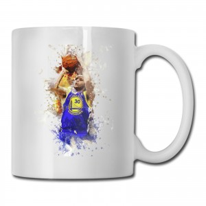 Calbert Cheaney Cups Stephen Curry, Golden State Warriors White