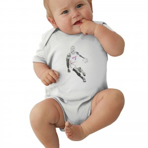 D Wade Life Unexpected Netflix Baby Jersey Bodysuit Dwyane Wade Miami Heat Watercolor Strokes White