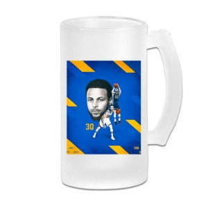 Golden State Steph Curry Frosted Beer Cug Stephen Curry Transparent