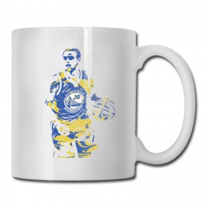 Malik Monk Cups Stephen Curry Golden State Warriors White