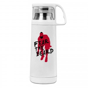 Miami Heat And James Harden Cover cup mug James Harden Fear The Beard White