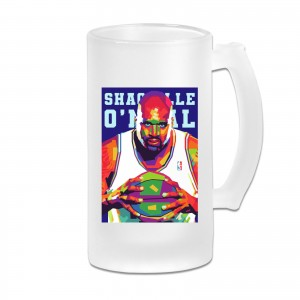 Rupp Arena Frosted Beer Cug Shaquille O'Neal Transparent
